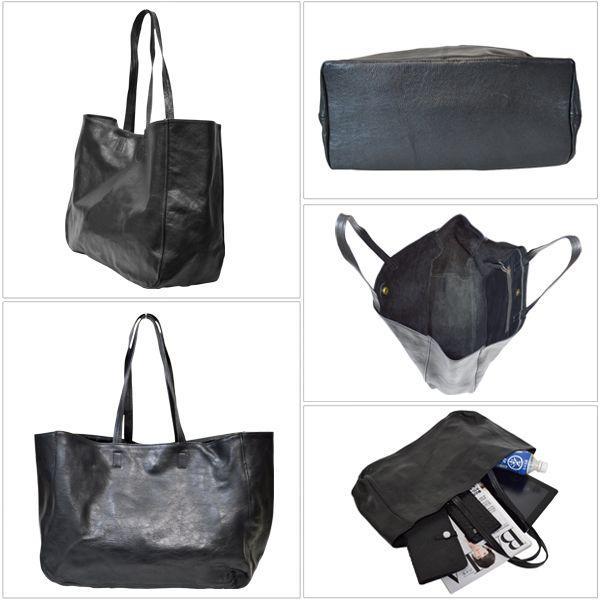 [世界に1点のみの限定商品]ピンストライプアート・トート バッグ MER-320006 | ランプリール・レザー|remplirleather|04
