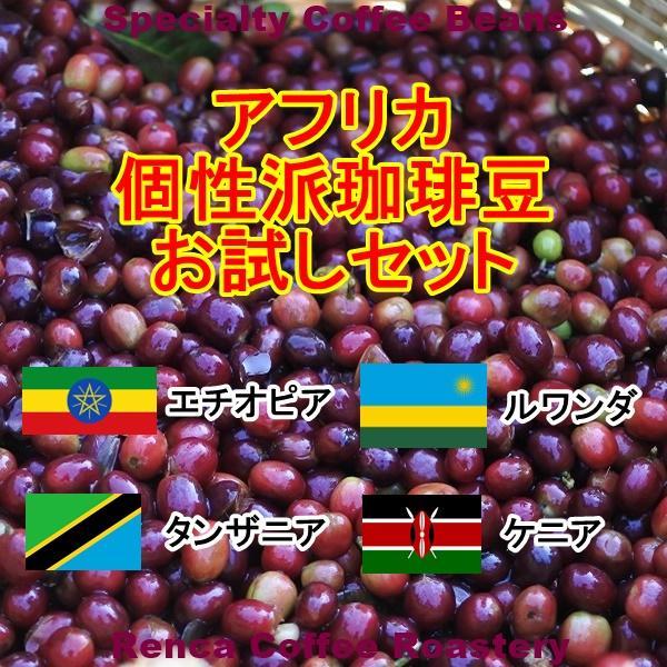 コーヒー豆 初回限定 お試し 送料無料 100gx4種類 アフリカ 個性派 珈琲豆|rencacoffee