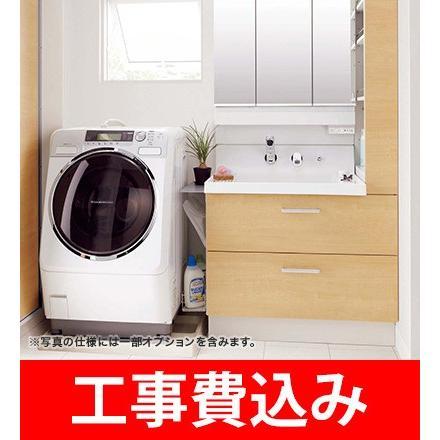 リクシル /LIXIL /INAX /ピアラ /洗面台セット /W900mm /引出しタイプ /シングルレバーシャワー水栓 /3面鏡全収納