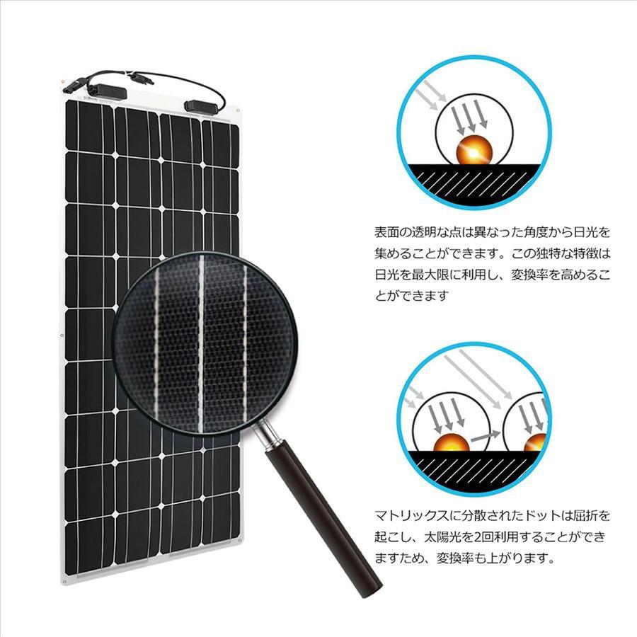 【五年間保証付き】RENOGYフレキシブルソーラーパネル100W 単結晶 最大248度の円弧に曲げられ 自作独立型太陽光発電/ソーラー発電に最適 renogysolar-store 07