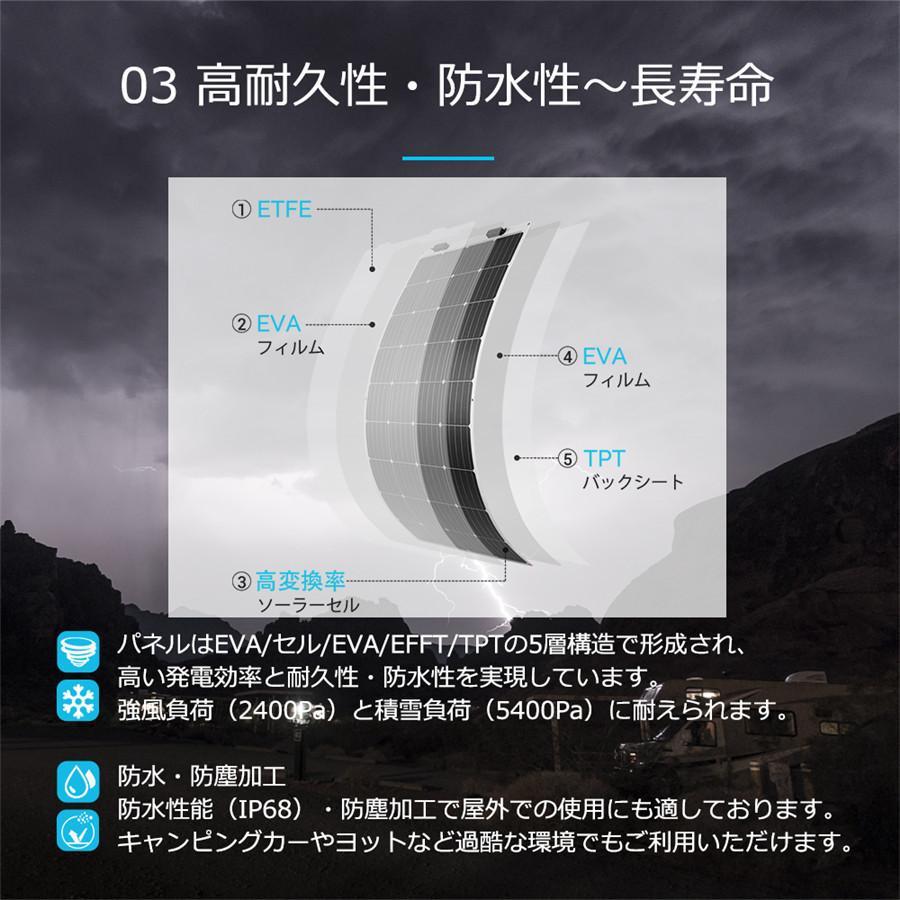 【五年間保証付き】RENOGYフレキシブルソーラーパネル100W 単結晶 最大248度の円弧に曲げられ 自作独立型太陽光発電/ソーラー発電に最適 renogysolar-store 08