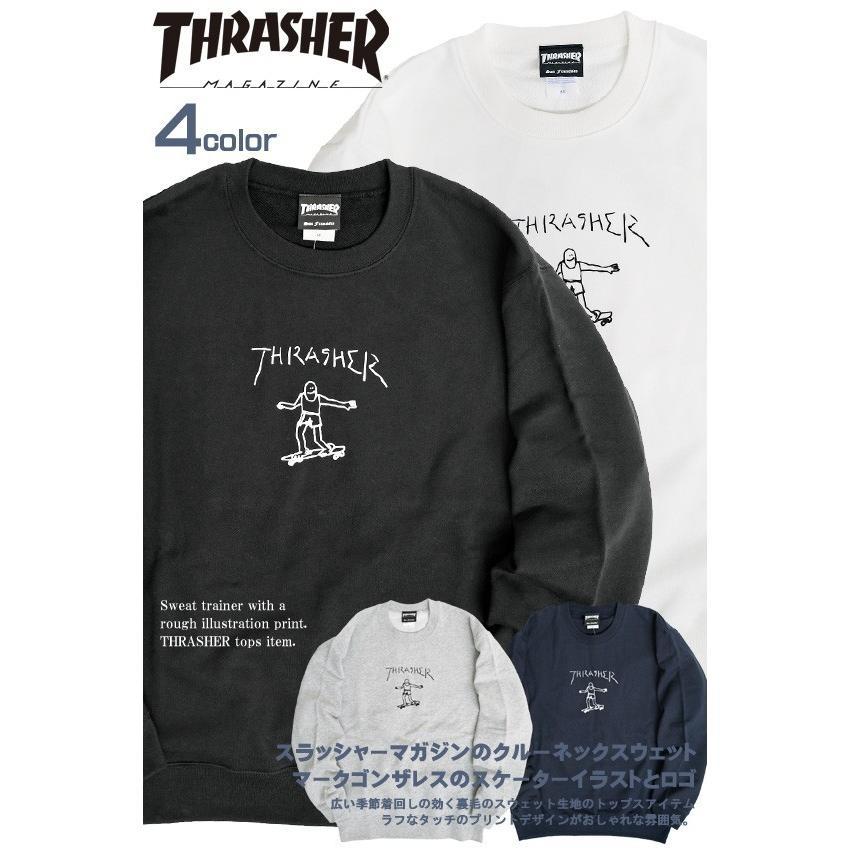 THRASHER スウェット スラッシャー ゴンズ ロゴ プリント トレーナー クルーネック GONZ CREW SWEAT THRASHER-154 renovatio 02