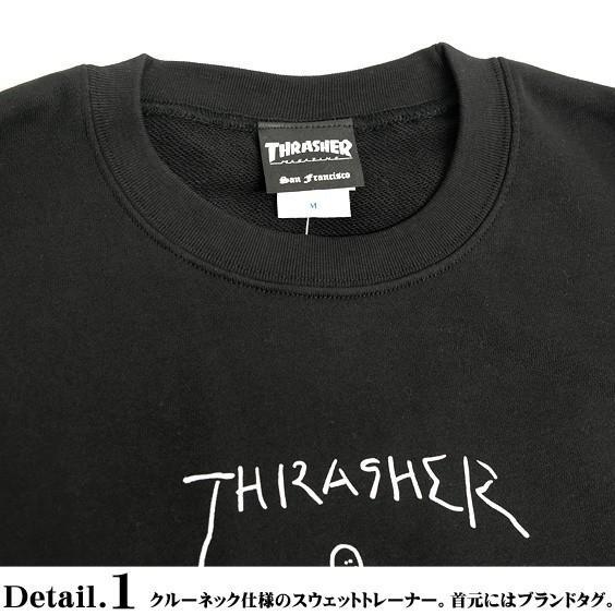 THRASHER スウェット スラッシャー ゴンズ ロゴ プリント トレーナー クルーネック GONZ CREW SWEAT THRASHER-154 renovatio 05