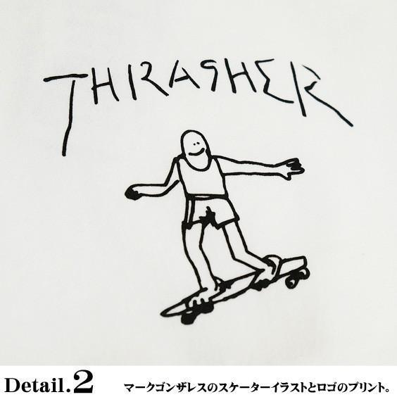 THRASHER スウェット スラッシャー ゴンズ ロゴ プリント トレーナー クルーネック GONZ CREW SWEAT THRASHER-154 renovatio 06