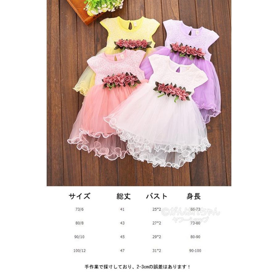 a351832e2771f ベビー服 夏 女の子 6ヶ月 1歳記念日 2歳誕生日 チュールドレス 子供 ...