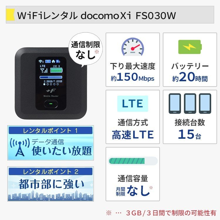 ドコモ wifi レンタル