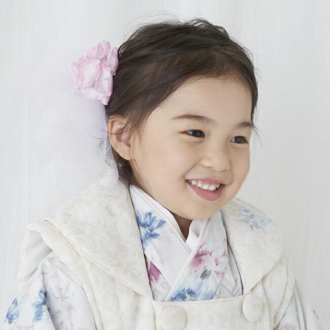 七五三(3歳女の子被布)0047JILLSTUARTアイボリー白×ピンク  ペールグリーン  3歳女の子被布らくらく9点セット|rentaldress-kids|09