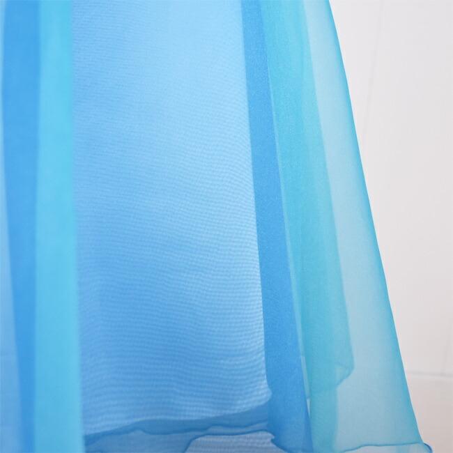 子供ドレスレンタル  靴セット 女の子用フォーマルドレス 日本製 tgl007 ターコイズ×ブルー ジュニア キッズ 結婚式 140 rentaldress-kids 07