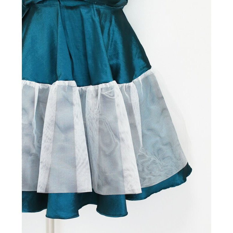 子供ドレスレンタル 靴セット 女の子用フォーマルドレス ccgl009 ダークティール 100 110 120 130 140 150 rentaldress-kids 12