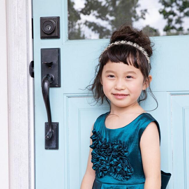 子供ドレスレンタル 靴セット 女の子用フォーマルドレス ccgl009 ダークティール 100 110 120 130 140 150 rentaldress-kids 05