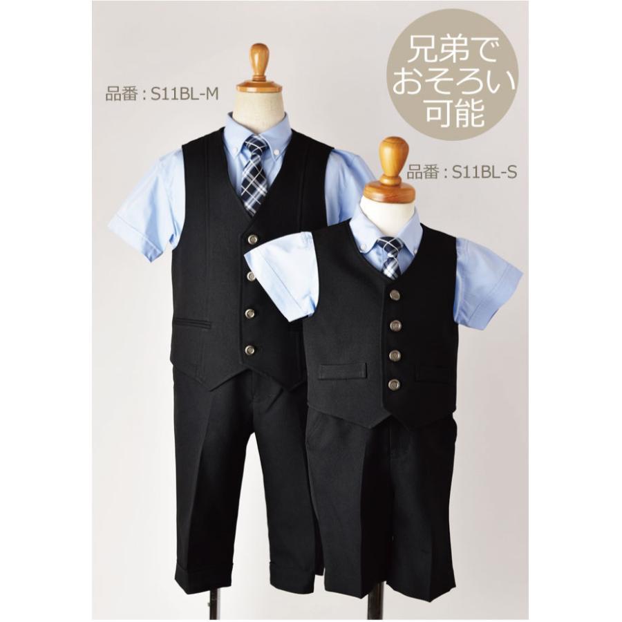 こどもフォーマル服 子供スーツ 選べる半袖長袖シャツ 靴セット 男児ベストスーツセット S11BL-M 半ズボン フォーマル 男の子 半袖 長袖 100 110 120 130 rentaldress-kids 05