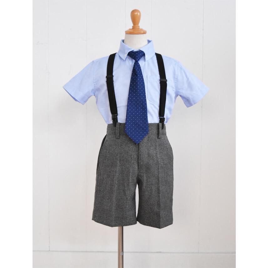 こども服男の子用フォーマルセット 子供スーツ 選べる半袖長袖シャツ  靴セット 男の子フォーマルシャツパンツセット サスペンダー付き dwby009 男の子 結婚式|rentaldress-kids|06