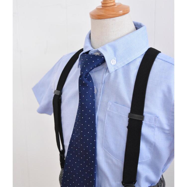 こども服男の子用フォーマルセット 子供スーツ 選べる半袖長袖シャツ  靴セット 男の子フォーマルシャツパンツセット サスペンダー付き dwby009 男の子 結婚式|rentaldress-kids|07