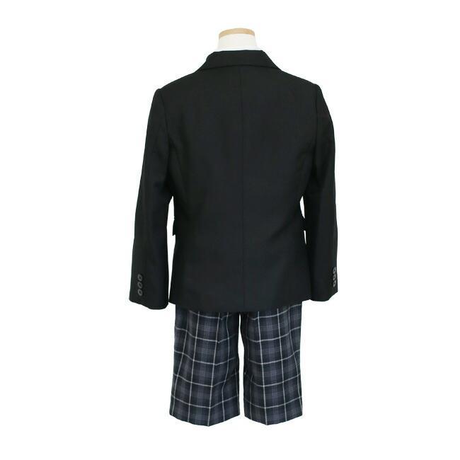 フォーマル子供服 子供スーツ 靴セット 格子パンツスーツ ブラック aby019 半ズボン フォーマル 男の子 110 120 130サイズ rentaldress-kids 10