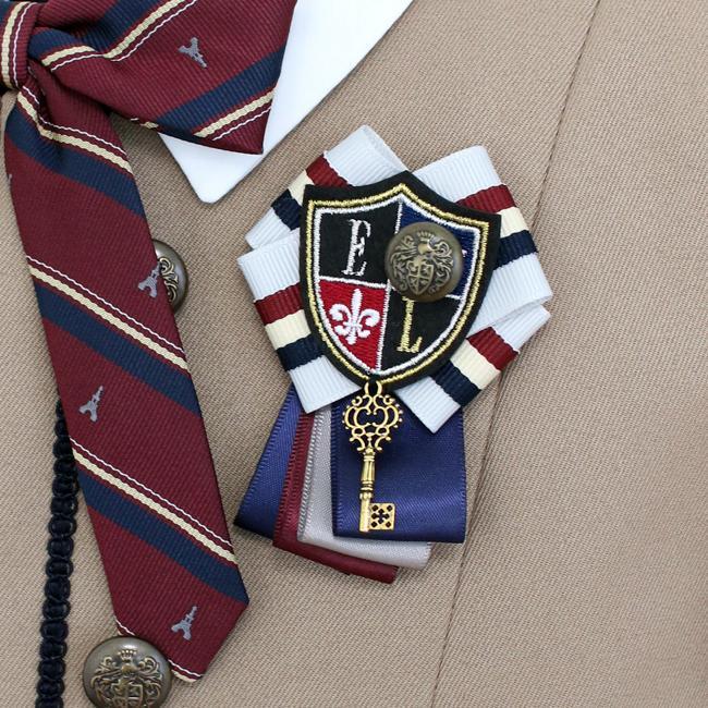 フォーマル子供服  靴セット ELLEキャメルJK ネイビーワンピースアンサンブルセット agl047  女の子 卒業式 入学式 結婚式 お受験 150 160|rentaldress-kids|06