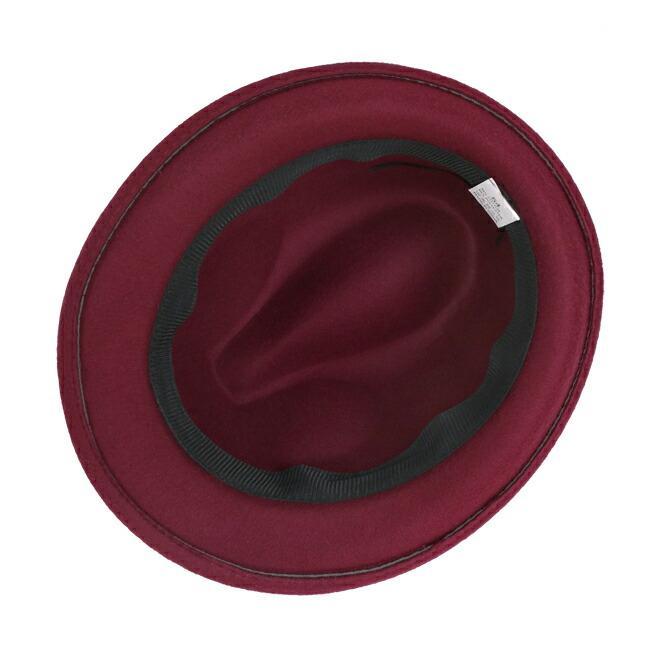 スーツと同時レンタルなら送料お得に!renac034 フェルト素材中折れハット ダークブラウン ワインレッド ブラック 和装におすすめ 七五三  結婚式 ハット 帽子|rentaldress-kids|11
