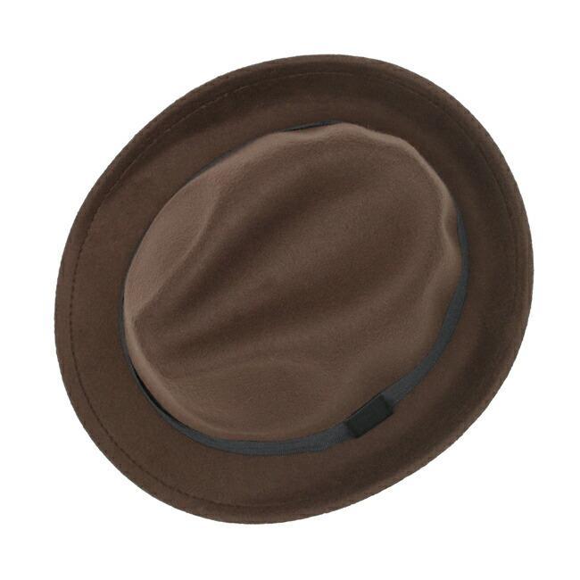 スーツと同時レンタルなら送料お得に!renac034 フェルト素材中折れハット ダークブラウン ワインレッド ブラック 和装におすすめ 七五三  結婚式 ハット 帽子|rentaldress-kids|05