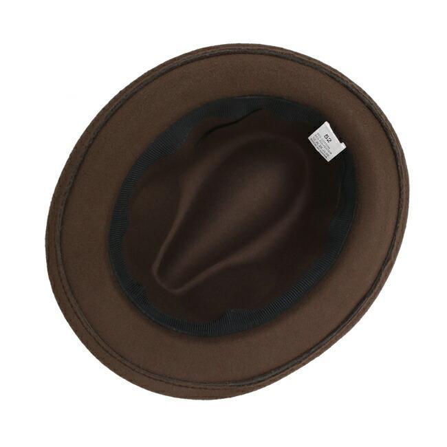 スーツと同時レンタルなら送料お得に!renac034 フェルト素材中折れハット ダークブラウン ワインレッド ブラック 和装におすすめ 七五三  結婚式 ハット 帽子|rentaldress-kids|06
