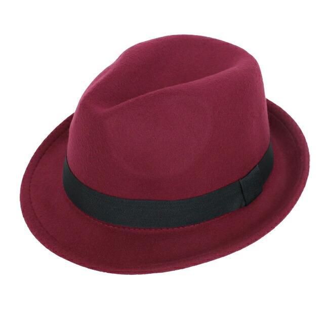 スーツと同時レンタルなら送料お得に!renac034 フェルト素材中折れハット ダークブラウン ワインレッド ブラック 和装におすすめ 七五三  結婚式 ハット 帽子|rentaldress-kids|08