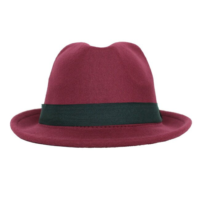 スーツと同時レンタルなら送料お得に!renac034 フェルト素材中折れハット ダークブラウン ワインレッド ブラック 和装におすすめ 七五三  結婚式 ハット 帽子|rentaldress-kids|09