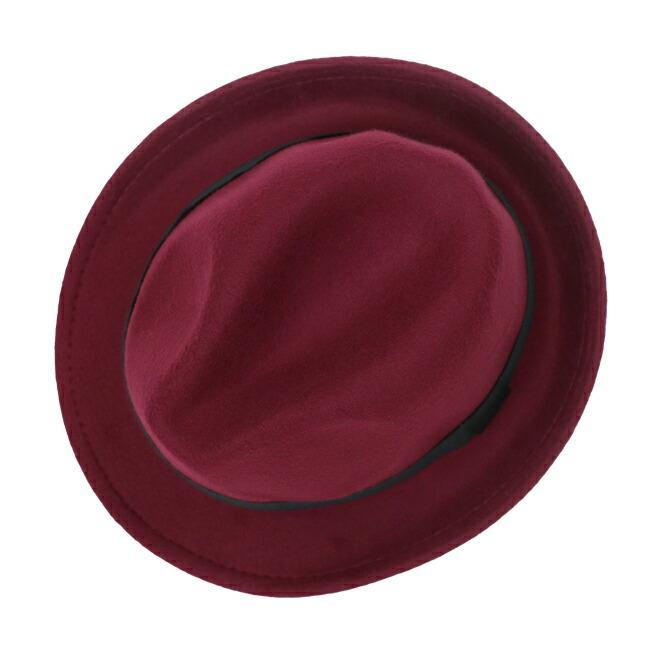 スーツと同時レンタルなら送料お得に!renac034 フェルト素材中折れハット ダークブラウン ワインレッド ブラック 和装におすすめ 七五三  結婚式 ハット 帽子|rentaldress-kids|10