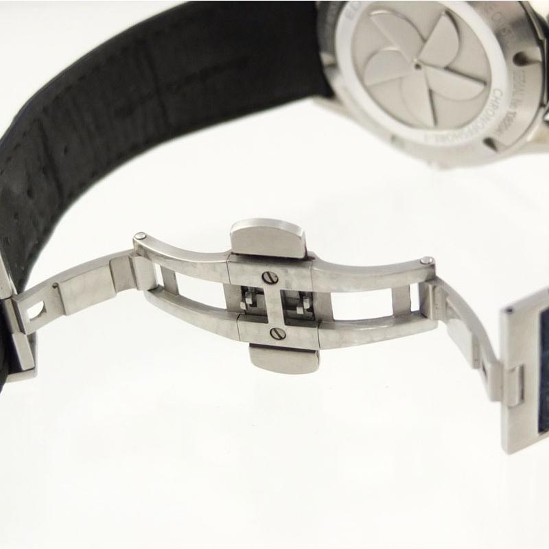 エドックス EDOX クロノオフショア1 01122-3BU3-BUIN3-L クロノグラフ 自動巻 メンズ腕時計 SS セラミック レザー 【中古】 repawn 05