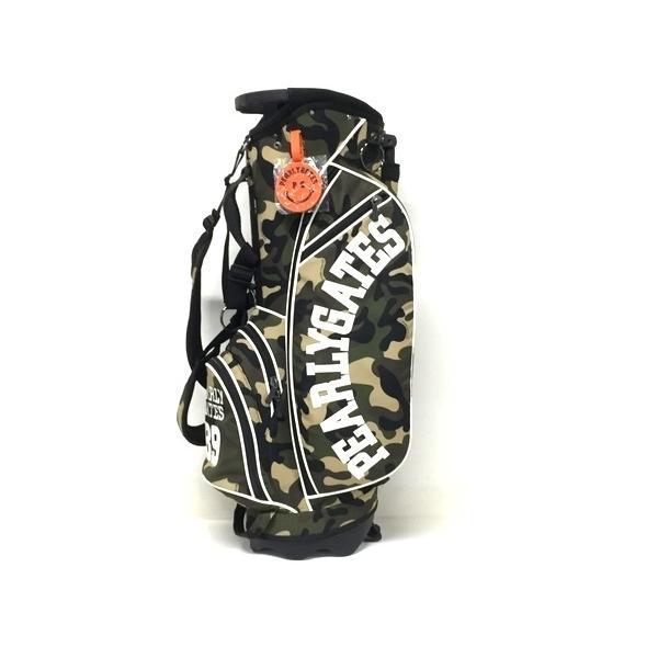 美品 【中古】 PEARLY GATES パーリーゲイツ スタンド式 キャディバッグ 迷彩 カモ柄 ゴルフ 美品 F4263205