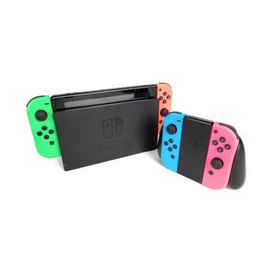 【中古】 中古 任天堂 Nintendo switch ニンテンドー スイッチ HAC-001 本体 ゲーム Joy-Con 2個 セット コントローラー 付き K3483012