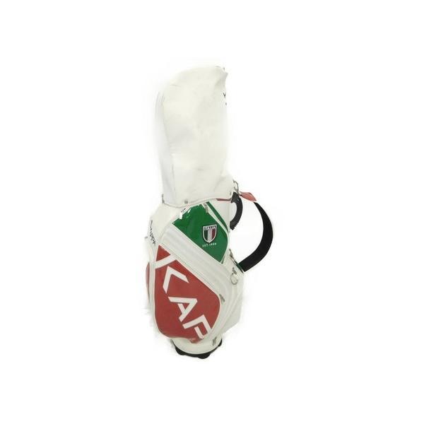 【中古】 Kappa KG618BA31 ツアータイプ キャディバッグ イタリア ロゴ N3783376