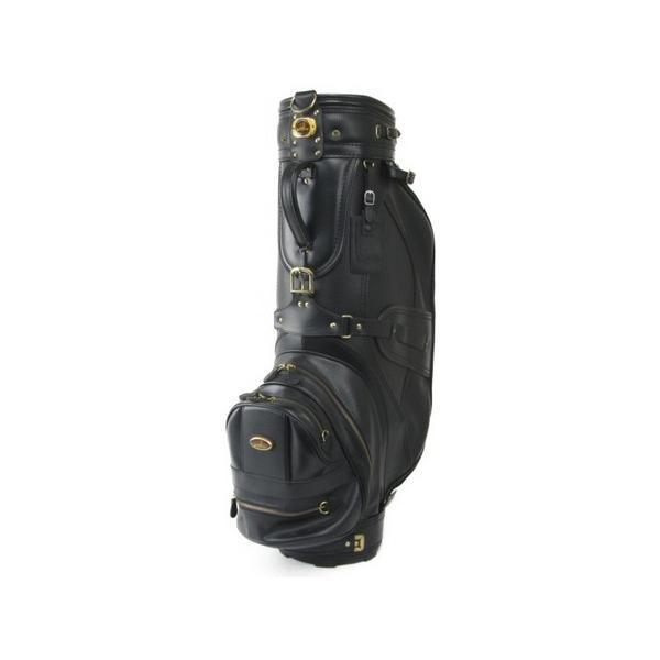 【中古】 dunhill ダンヒル ゴルフバッグ キャディバッグ ブラック系 フードなし N4397896