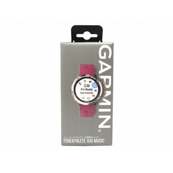 未使用 【中古】 未使用 GARMIN ForeAthlete 645 Music GPS ウォッチ トレーニング 青tooth O3329155