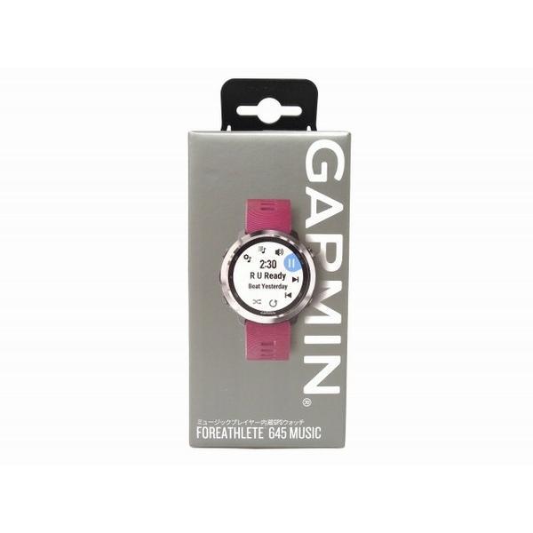 未使用 【中古】 未使用 GARMIN ForeAthlete 645 Music GPS ウォッチ トレーニング Bluetooth O3329157