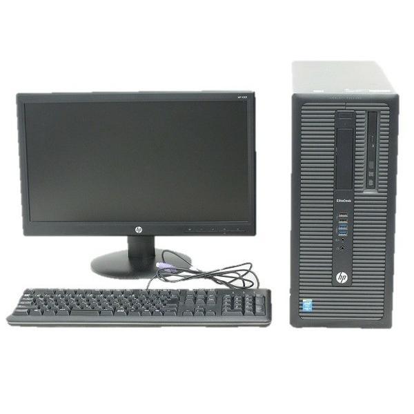 【中古】 HP EliteDesk 800 G1 TW i5 4590 3.3GHz 8GB HDD1TB Win8.1 Pro 64bit デスクトップ ブラック系 19.45型 ディスプレイ セット T2370510