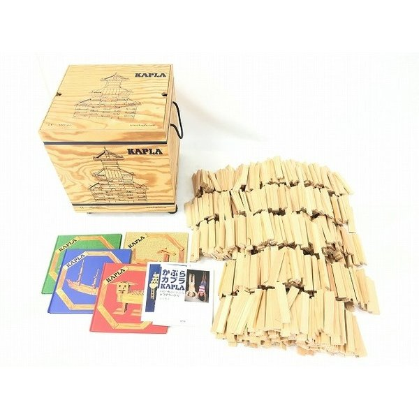 【中古】 KAPLA 1000P 積み木 魔法の板 知育玩具 木箱付き カプラ 中古 W4106106