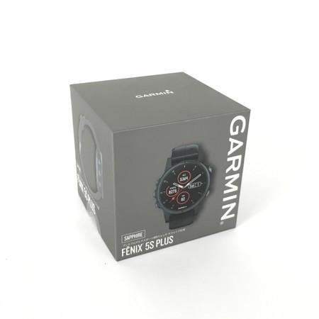 未使用 【中古】 GARMIN FENIX 5S PLUS SAPPHIRE 010-01987-77 プレミアム マルチスポーツ GPSウォッチ ガーミン Y4262917