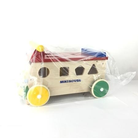 未使用 【中古】 未使用 MIKIHOUSE パズルバス 知育 玩具 ミキハウス Y4347152
