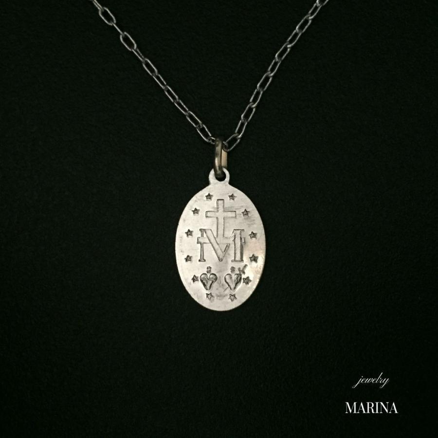 フランス奇跡のメダイのネックレス - silver chain|resortiara|03