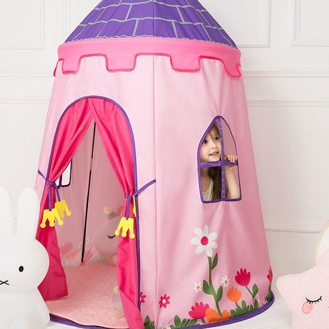 送料無料 子供テント キッズテント プレイハウス 室内 睡眠テント 折り畳み式 持ち運び 秘密基地 遊具 誕生日 入園祝い 入学祝い ハロウィンプレゼント|resty|08