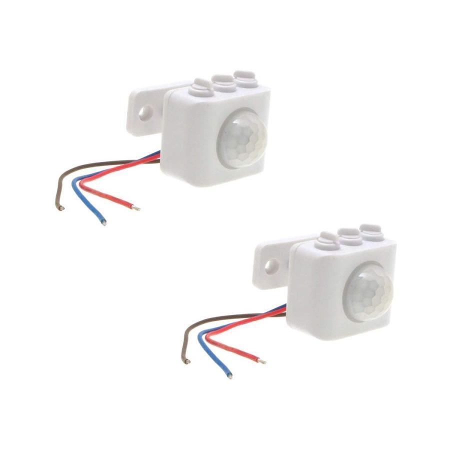 後付け 人感センサー ファッション通販 スイッチユニット 小型タイプ 照明器具用 PIR 人感 60Hz対応 50 明るさセンサー両搭載 2個セット AC100V 100Wまで 最安値に挑戦