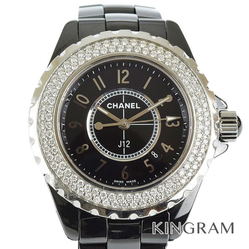 正規品販売! シャネル CHANEL J12 H0949 ダイヤベゼル クォーツ レディース 腕時計 tu【】, 本吉郡 c41a0633