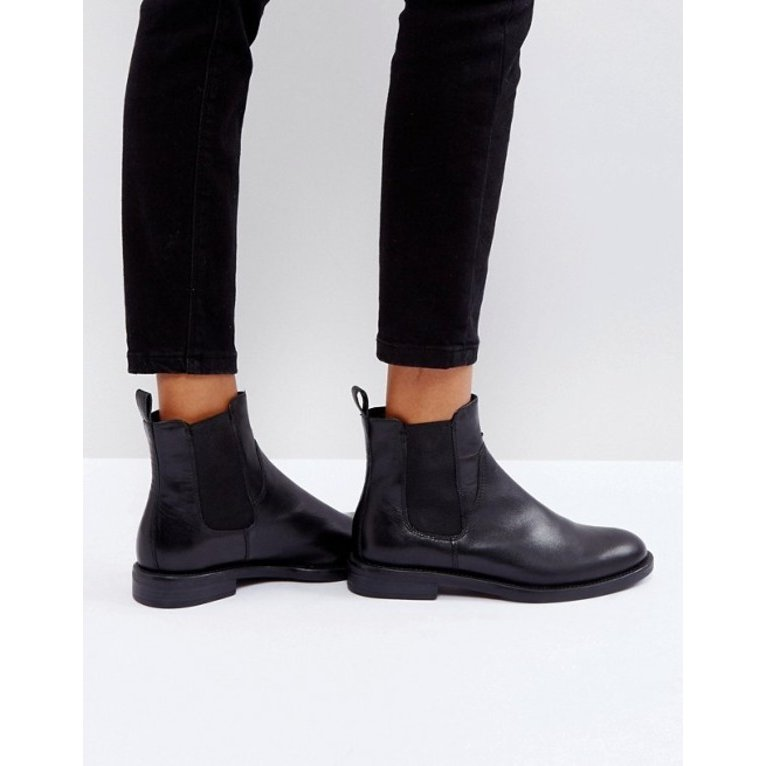 バガボンド レディース ブーツ・レインブーツ シューズ Vagabond Amina 黒 Leather Chelsea Boots