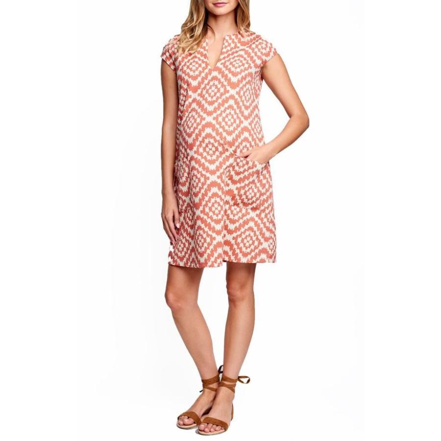 マターナル アメリカ レディース ワンピース トップス Maternal America Shift Maternity Dress