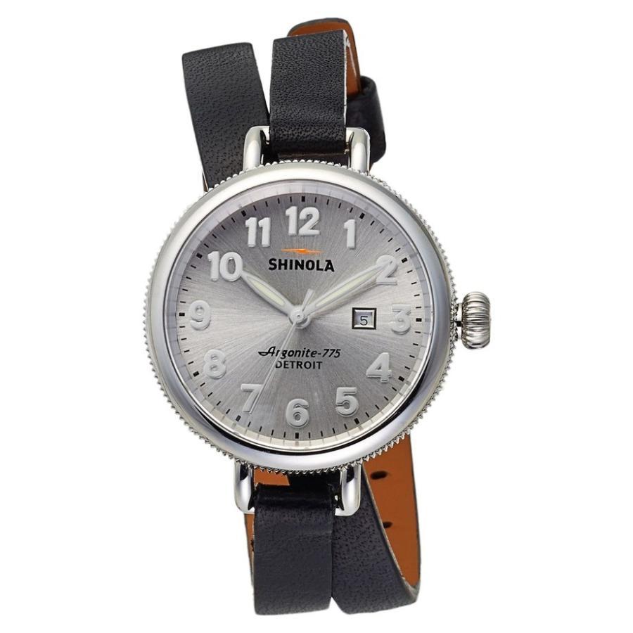 再再販! シャイノーラ レディース 腕時計 アクセサリー Shinola 'The Birdy' Double Wrap Leather Strap Watch, 34mm, WakWak 0b8c4263