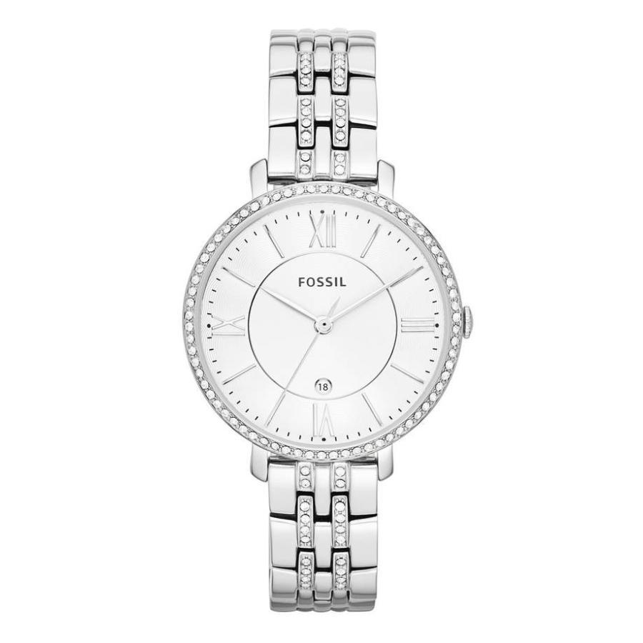 【国際ブランド】 フォッシル レディース 腕時計 アクセサリー Fossil 'Jacqueline' Crystal Bezel Bracelet Watch, 36mm, ルリカ 8ca0e6f6