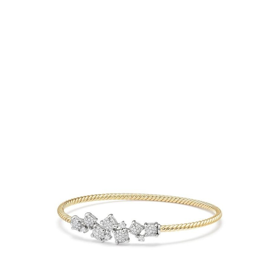 数量は多い  デイビット David・ユーマン Gold レディース Diamonds ブレスレット・バングル・アンクレット アクセサリー David Yurman Precious Ch?telaine Bracelet with Diamonds in 18K Gold, ball fields:20020419 --- airmodconsu.dominiotemporario.com