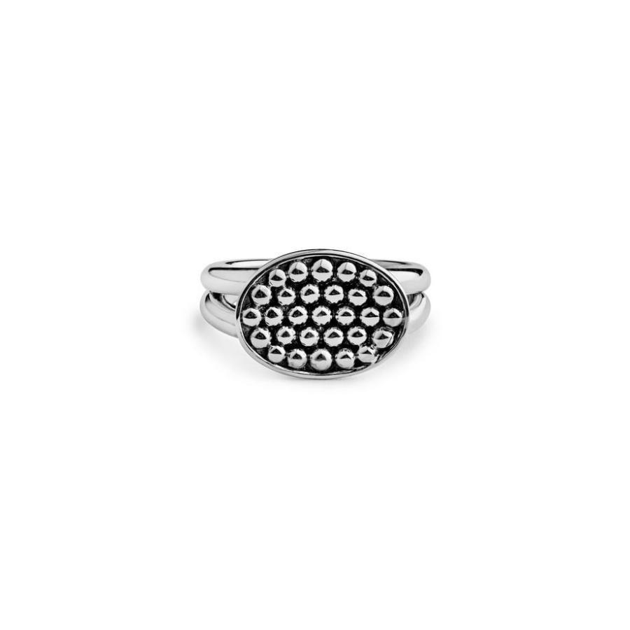 【超新作】 ラゴス レディース リング アクセサリー Caviar LAGOS Signature Caviar Horizontal Ellipse ラゴス Signature Ring, 快適style:8ab9ca65 --- airmodconsu.dominiotemporario.com