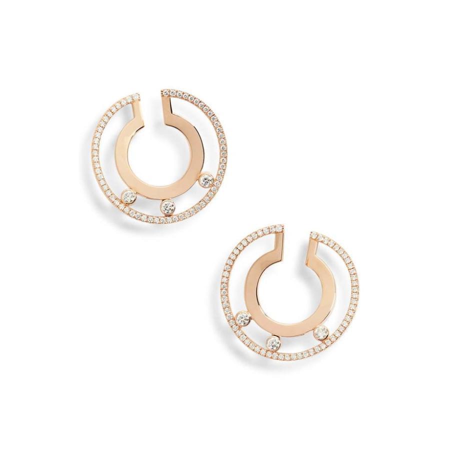 【楽天最安値に挑戦】 メシカ レディース Earrings ピアス・イヤリング アクセサリー Diamond Messika Move Romane 18K アクセサリー Gold & Diamond Hoop Earrings, NANIWAYA:f3124fcf --- airmodconsu.dominiotemporario.com