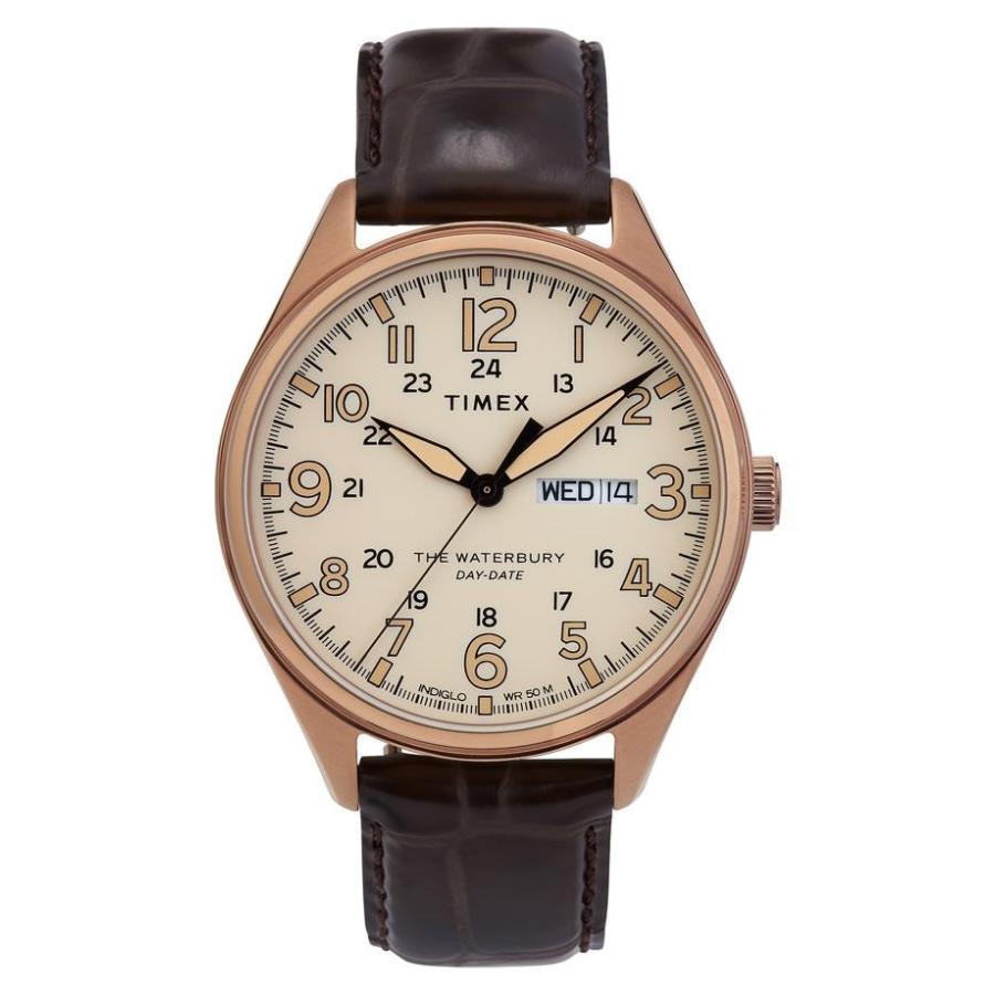【国内正規品】 タイメックス レディース 腕時計 アクセサリー Timex Waterbury Leather Strap Watch, 42mm, カケガワシ 41eb7f34