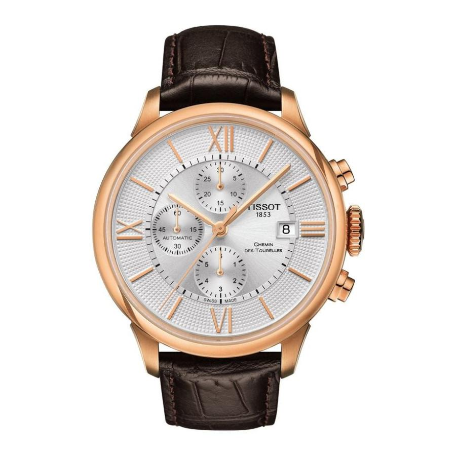 【ラッピング無料】 ティソット Chemin レディース Leather 腕時計 アクセサリー Tissot Chemin Des Tourelles Automatic Automatic Chronograph Leather Strap Watch, 44mm, タカラShop:e6a5d9ab --- airmodconsu.dominiotemporario.com