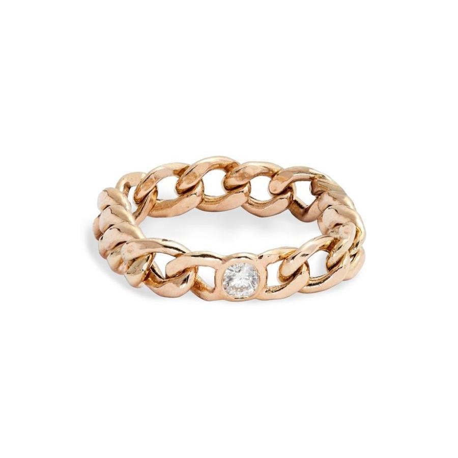 保障できる ゾーシッコ レディース リング アクセサリー Zo Chicco Diamond Medium Curb Chain Ring, 家具通販 ぴぃーす 3d1bd059